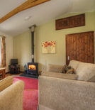 A view through the lounge at waldon valley self catering lodge in devon